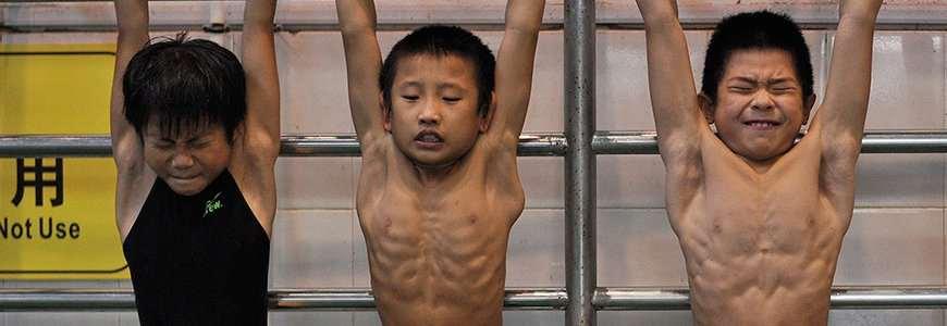 entrenamiento china - Los niños olímpicos en China