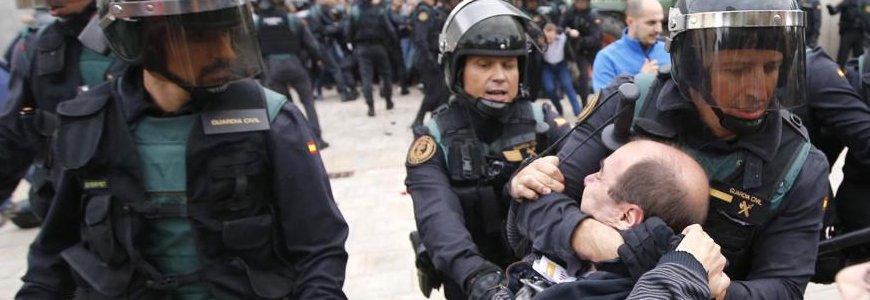 violencia 1 o - Las víctimas del 1 de Octubre en Cataluña: Un análisis psicológico de las consecuencias